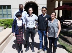 From left to right: Bridget Algee-Hewitt, Cody Sam, Yang Li, Anand Bhaskar, and Katie Kanagawa